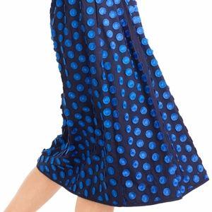 J. Crew Dot Fringe Midi Skirt